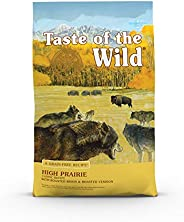 Taste of The Wild Grain Free Premium High Protein Dry Dog Food High Prairie Adult Roasted Bison & Roasted