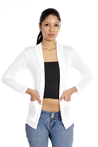 Teemoods Womens Viscose Shrugs -White -Small_TM-1034S