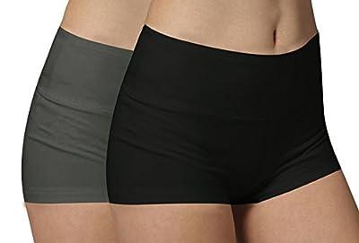 iLoveSIA Womens Knickers Yoga Gym Pants Stretch Boy Shorts