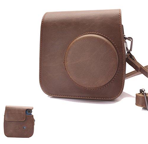 Kamera Tasche mit Schultergurt für Polaroid PIC-300 Sofortbildkamera (Braun)