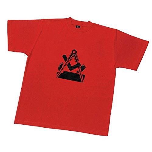 FHB branded Shirts T-Shirts mit Tischler Brustlogo 904 rot