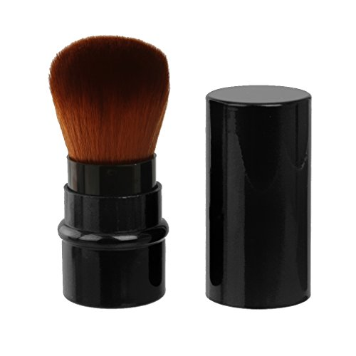 Imported Travel Retractable Blush Brush Powder Shadow Brush Facial Makeup-Black-54001591MG