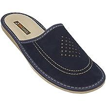 aa124637a5e BAWAL Zapatillas de Estar por casa Zapatillas de Cuero para Hombres