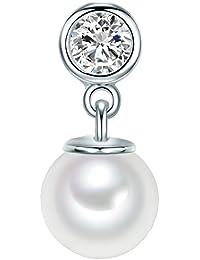 Rafaela Donata Damen-Anhänger Classic Collection Zirkonia weiß Südsee-Muschelkernperlen 925 Sterling Silber