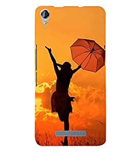 Girl with Umbrella 3D Hard Polycarbonate Designer Back Case Cover for Micromax Canvas Juice 3 Q392