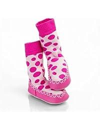 Sock Ons - Mocc Ons Rosa Spots 18-24m
