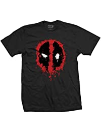 Marvel Official Licensed Deadpool Mens Printed T-shirt - Splat Icon