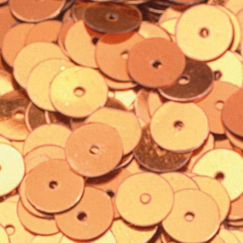 efco rund flach Pailletten, Cognac, 6mm, 10g, 1000