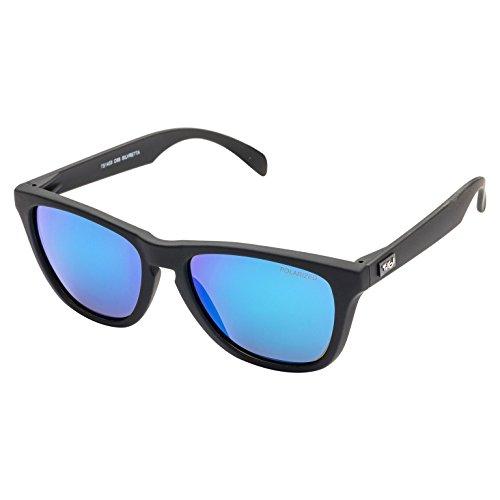 Tirol Silvretta schwarz/blau revo polarisierte Sonnenbrille