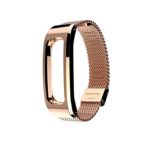 für Huawei Honor Running Band 4 Uhrenarmband,Hongtianyuan Metallarmband Ersatzarmbänder Ersatzarmband Erweiterbar Armband für Huawei Honor Running Band 4 (Rotgold) - Bänder Herren-erweiterbar-uhr