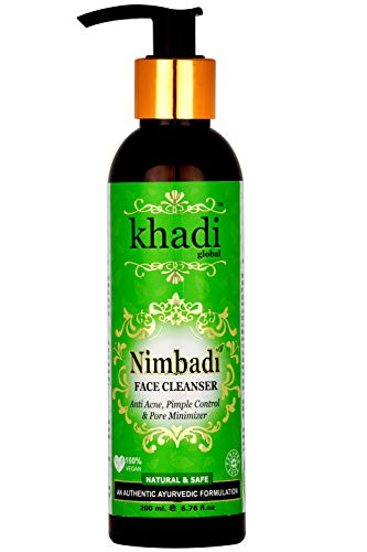 Khadi Global Nimbadi Ayurvedic Formulation with 5 Type of Tulsi and Neem Anti Acne and Pimple Control Face Cleanser for Both Men and Women