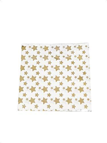 takestop Set 96 Stück Papiertüten für Goldene Sterne aus USA und Getta COMPLEANNI MATRIMONNE Party