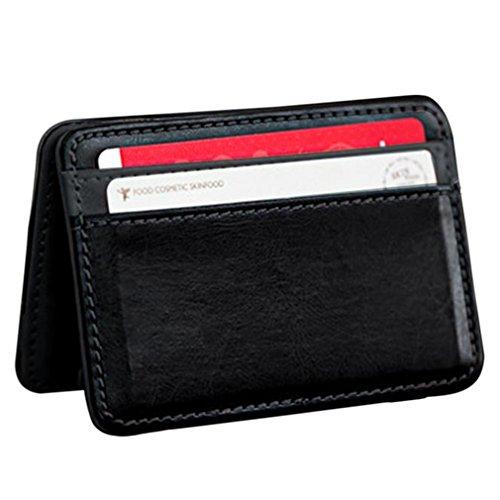 Portafoglio magico in pelle portafoglio piccolo carte di credito unisex