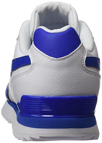 Reebok Royal Glide Ripple Clip, Baskets Basses Pour Homme (blanc / Bleu Vital)