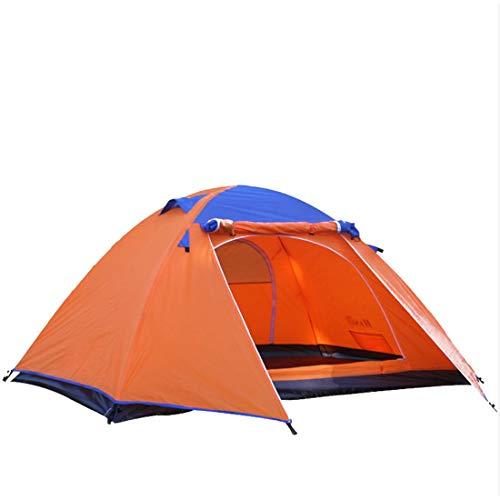 ERSD 2-Personen-Campingzelt 4-Jahreszeiten-Doppelschicht-Aluminiumstangen-Outdoor-Zelt/Muss für Outdoor-Sportarten zusammengebaut Werden Outdoor-Camping Free Build Speed-Zelte Wasserdichter Sonnensc