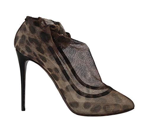 Dolce & Gabbana - Damen Schuhe - Pumps Brown Leopard Tulle Ankle Boots