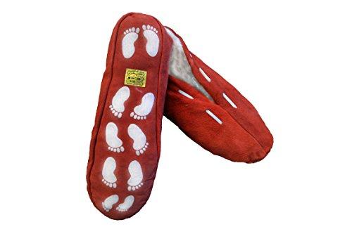 Damen und Herren Hausschuhe Pantoffeln Hüttenschuhe Leder Antirutsch versch.Farben Rrt