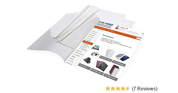 Auswahl 1,5-50,0 mm 10 Thermobindemappen DIN A4 wei/ß // 35.0 mm wei/ß//transparent
