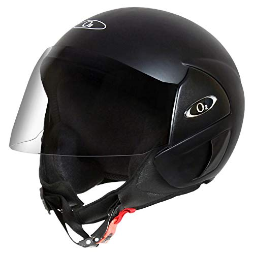 O2 Perl Series Delux Matte Black with Tinted Visor