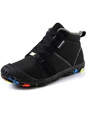Botas de Nieve Niños Impermeable Bota de Invierno Forrada De Piel Zapatos Calientes Calentar Zapatos de Invierno...