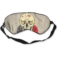 Sleep Eye Mask Skull Flowers Rose Lightweight Soft Blindfold Adjustable Head Strap Eyeshade Travel Eyepatch E6 preisvergleich bei billige-tabletten.eu
