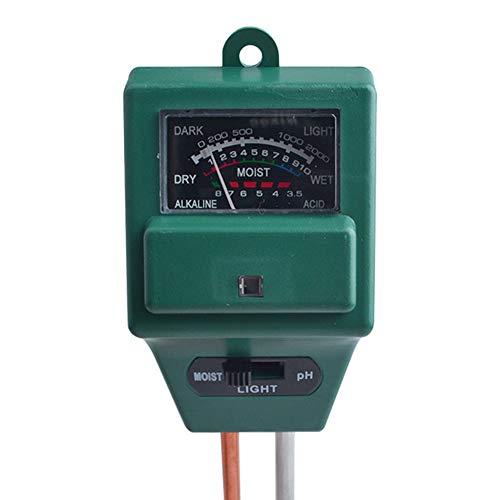 Meng Ran 3 in 1 pH-Tester für Bodenwasser, Feuchtigkeitsmessgerät für Garten, Bauernhof, Rasen, Pflanzen, Getreide, Blumen, Gras, für drinnen und draußen
