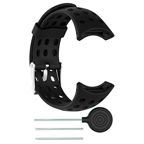 KOBWA SUUNTO Quest Uhrenarmband, Silikon Ersatz Armband Uhrenarmbänder für SUUNTO M1 M2 M4 M5 M Serie Sport Smart Watch mit Werkzeug