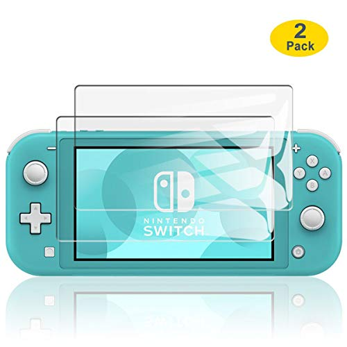 ELYCO für Nintendo Switch Lite Panzerglas Displayschutzfolie, [2 Stück] Anti-Kratzen Anti-Öl Anti-Fingerabdruck Panzerglasfolie, Ultra-klar 9H Hartglas Nintendo Switch Lite Schutzfolie - High-konsole