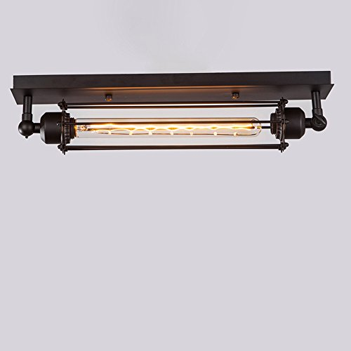 Orientalische Decken-ventilatoren (KMYX Dorf Retro Deckenleuchten American Industrial Style Deckenleuchten für Bar Cafe Restaurant Korridor Beleuchtung Decke Leuchte E27 Halter)