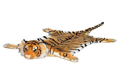 infactory Tigerfell: Kuschliger Webpelz-Vorleger Königstiger, 170 cm (Tigerfell Teppich)