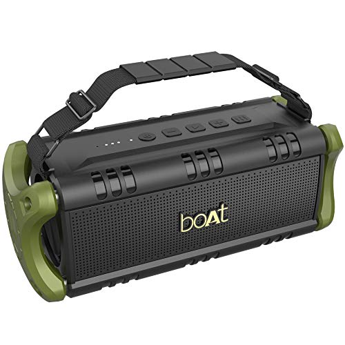 boAt Stone 1400 Wireless Bluetooth Speaker with IPX 5 Water Resistance, EQ Modes and HD Sound (Army Green)