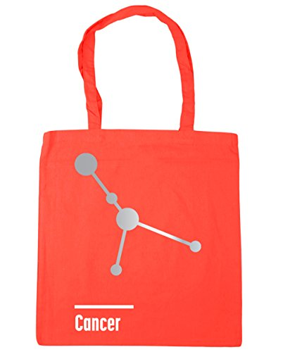 hippowarehouse Krebs Constellation Tote Shopping Gym Beach Bag 42 cm 38 38, 10 Liter, korallenrot, Einheitsgröße (- Bag Krebs-tote)