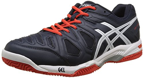 Asics Herren Gel Game 5 Clay Tennisschuhe, Blau (Sky Captain/White/Orange), 44.5 EU