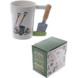 Kaffeetasse mit Gartenmotiv, Kellengriff