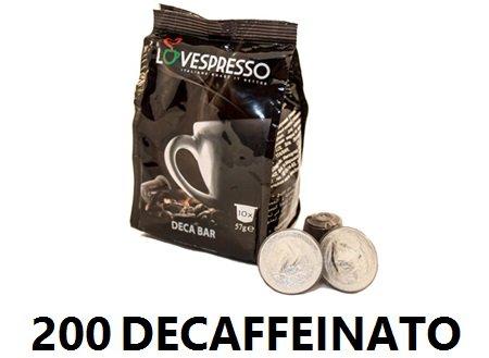 Lovespresso NESPRESSO® - 200 Capsule di caffè Compatibili Qualità Deca Bar - INTENSITA' 7