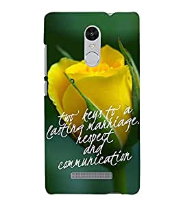 ifasho Designer Back Case Cover for Xiaomi Redmi Note 3 :: Xiaomi Redmi Note 3 Pro :: Xiaomi Redmi Note 3 MediaTek (Rose Rosa Keys To Successful Marriage)