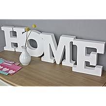Scritta HOME in legno, stile shabby chic, colore (Home)