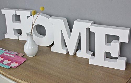 Scritta HOME in legno, stile shabby chic, colore