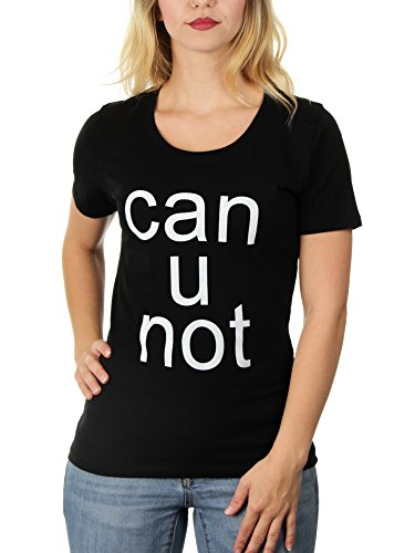 Can U Not - Damen T-Shirt von Kater Likoli Deep Black