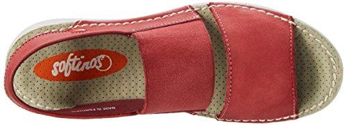 Softinos TAI383SOF - Sandali a Punta Aperta Donna Rosso (Red)