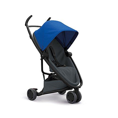 Quinny Zapp Flex Stylischer Komfort-Buggy, mit vielen Extras, leicht, kompakt faltbar, ab der Geburt nutzbar, blue on graphite, blau/grau