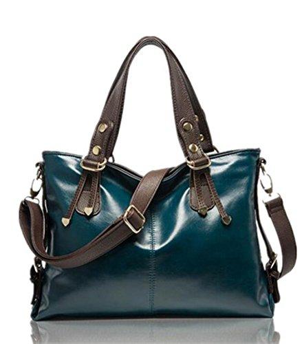 CHAOYANG-cera di petrolio spalla della signora borsa a tracolla portatile borse diagonali , wine red army green