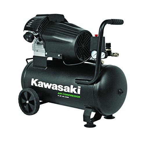 Kawasaki Kompressor, Luftkompressor Werkstatt, fahrbar, 2200W, 8Bar, Induktionsmotor, 50L Tank, Ansaugleistung 356 l/min - Mit Ac Kupplung Kompressor