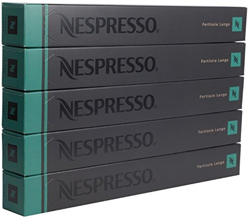 Find New original Nespresso Fortissio Lungo flavour coffee 50 Capsules Pods 5 Sleeves Long expiry - Nespresso