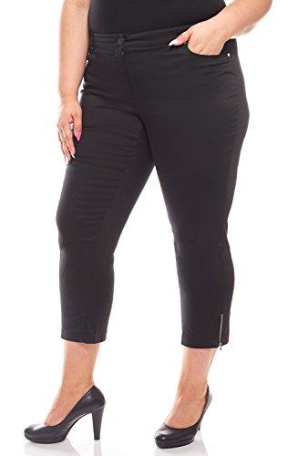 Sheego Damen Stretch-Jeans Große Größen 7/8 Stoffhose Business Freizeit Schwarz, Größenauswahl:46
