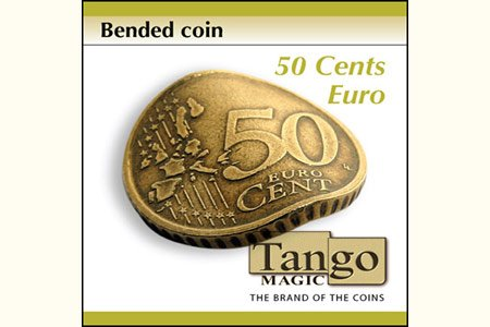 Bended Coin (50 cents Euro w/DVD)(E0075) by Tango - Trick (E0075) (Dvd-magic Trick)