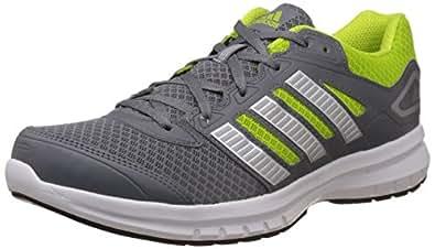 adidas Men's Galactus M Grey, Silver and Yellow Mesh Running Shoes - 7 UK