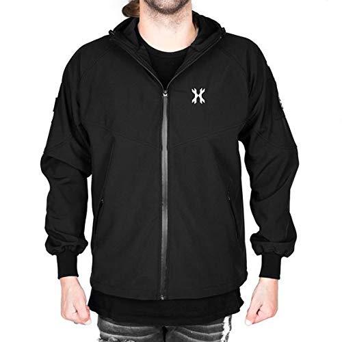 HK Army Softshell Jacke Stealth mit Patches Schwarz, Größe:XXL