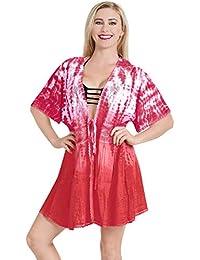 E Piscina Mare Parei Rosso Copricostumi it Abbigliamento Amazon vxwqtzv