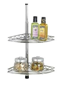 wenko 27941100 tag re t lescopique d 39 angle avec crochets cuisine maison. Black Bedroom Furniture Sets. Home Design Ideas